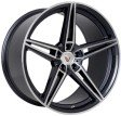 Vissol F-111 10x19 5/114.3 DIA 73.1 black with machined face