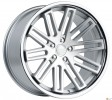 Vissol F-570 10.5x20 5/114.3 DIA 73.1 silver with machined face and chrome lip