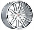 Vissol F-570 8.5x20 5/114.3 DIA 73.1 silver with machined face and chrome stainless steel lip