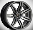 Vissol F-911 10.5x20 5/114.3 DIA 73.1 matte graphite machined