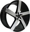 Vissol V-080R 8.5x19 5/112 DIA 66.6 black with machined face
