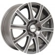 TGRacing L015 7.5x17 5/105 DIA 56.6 white polished