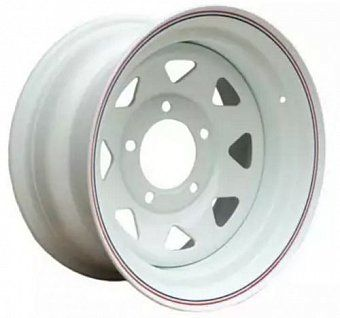 Offroad wheels Land Rover 8x15 5x165,1 ET-10 dia 131 белый