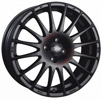 OZ Racing Superturismo GT 7,5x17 5x112 ET50 dia 75 matt black + red lettering Италия